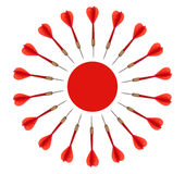 Business target concept, aim, objective. Red darts circle. Royalty Free Stock Photography