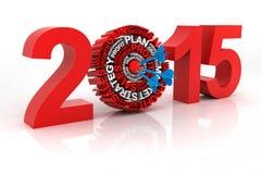 2015 business target, 3d render Stock Images