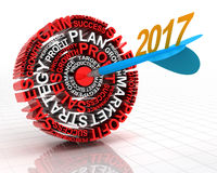 Business target 2017 stock photo
