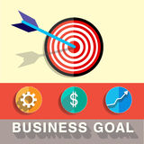 Business target goal vector illustration Royalty Free Stock Image