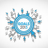 2015 business target. Goals abstract background Stock Photos