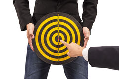 Business target, hand aiming or pointing Stock Photography