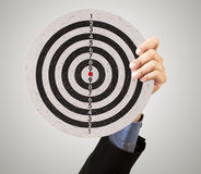 Business target in hand Stock Photography