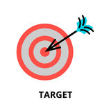 Business target icon, for graphic and web design. Modern flat editable line design vector illustration, business target icon, for graphic and web design Stock Photos