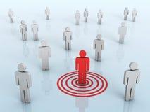 Business target market vector illustration