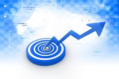 Business target marketing concept Royalty Free Stock Image