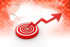 Business target marketing concept Stock Images