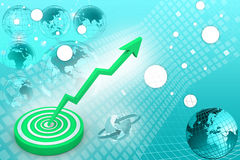 Business target marketing concept Stock Photography