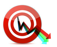Business target marketing concept illustration Royalty Free Stock Photo