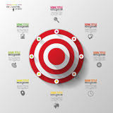 Business target marketing concept. Infographics template. Vector Royalty Free Stock Image