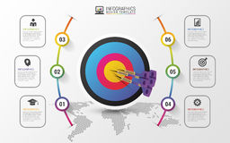 Business target marketing concept. Infographics template. Vector Royalty Free Stock Photography