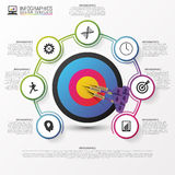 Business target marketing concept. Infographics template. Vector Stock Images