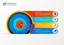 Business target marketing concept. Infographics template. Vector. Illustration Royalty Free Stock Photos