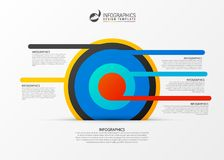 Business target marketing concept. Infographics template. Vector. Illustration Stock Photography