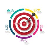 Business target marketing dart idea. Infographics vector. Stock Image