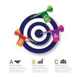 Business target marketing dart idea. Infographics vector. Stock Photos