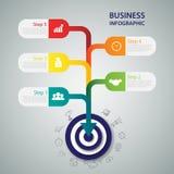 Business target marketing dart idea. Infographics vector. Stock Photography