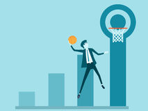 Business target. Business People In Action Jumping Royalty Free Stock Photos