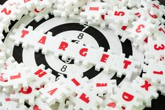 Business target plan for success strategy concept, white puzzle Stock Photo