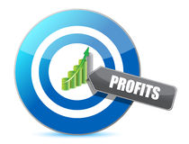 Business target profits graph illustration design Royalty Free Stock Photos