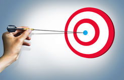 Business target success concept easy Royalty Free Stock Photo