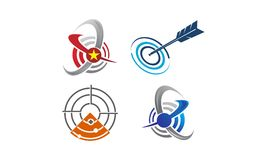 Business Target Template Set. Vector Royalty Free Stock Photo