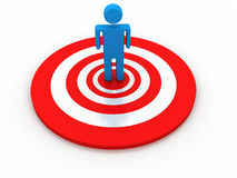 Business Target. On white background Stock Image