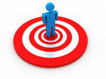 Business Target. On white background Royalty Free Stock Photo
