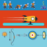 Business Targeting Infographic. Flat Illustration. Royalty Free Stock Photos