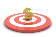 Business Targets. 3d Rendered Image show business targets and results Stock Image
