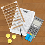 Business tax and banking paperwork Stock Images
