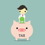 Business tax Stock Photo