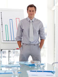 Business teacher standing before class Stock Images