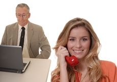 Business Team 10. A Young and senior business team working together well Stock Photography