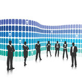 Business team. Vector illustration of business people Royalty Free Stock Photo