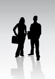 Business Team. A couple of professional people royalty free illustration