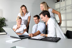 Business team. Group of business people meeting in the office Royalty Free Stock Photo