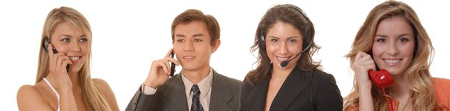 Business Team 17. A Young business team working together well Stock Images
