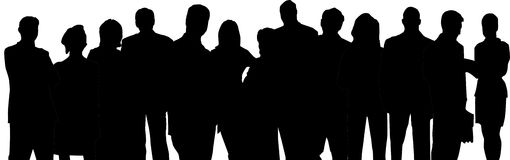 Business team. Silhouettes over white background Stock Images