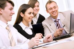 Business team. Business people in a work meeting in the office stock images