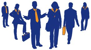 Business Team 2. Silhouettes and detail of business teams and professionals Stock Photography