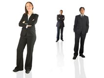 Business team - 2 men 1 woman Royalty Free Stock Image
