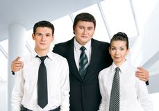 Business team. Boss is happy with the commend Royalty Free Stock Photography