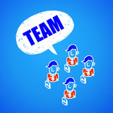 Business team. Business people working together to ensure success in the business team Royalty Free Stock Image