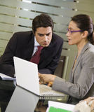 Business team. People at work: business team having a meeting Stock Photography