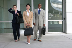 Business Team. A diverse attractive business team leaving the company Stock Image