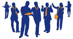 Business Team 3. Silhouettes and detail of business teams and professionals Stock Photo