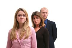 Business Team - 3 young people Stock Photography