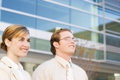 Business team. Looks forward and smiles Stock Photo