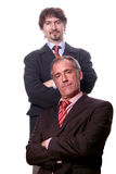 Business team. Two business people looking on the camera Royalty Free Stock Photography